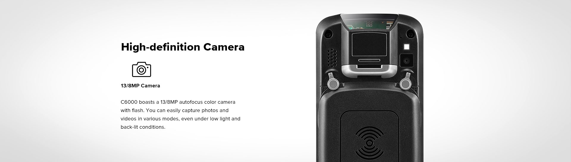 C6000 Rugged Handheld Computer Android - 13/8 MP camera