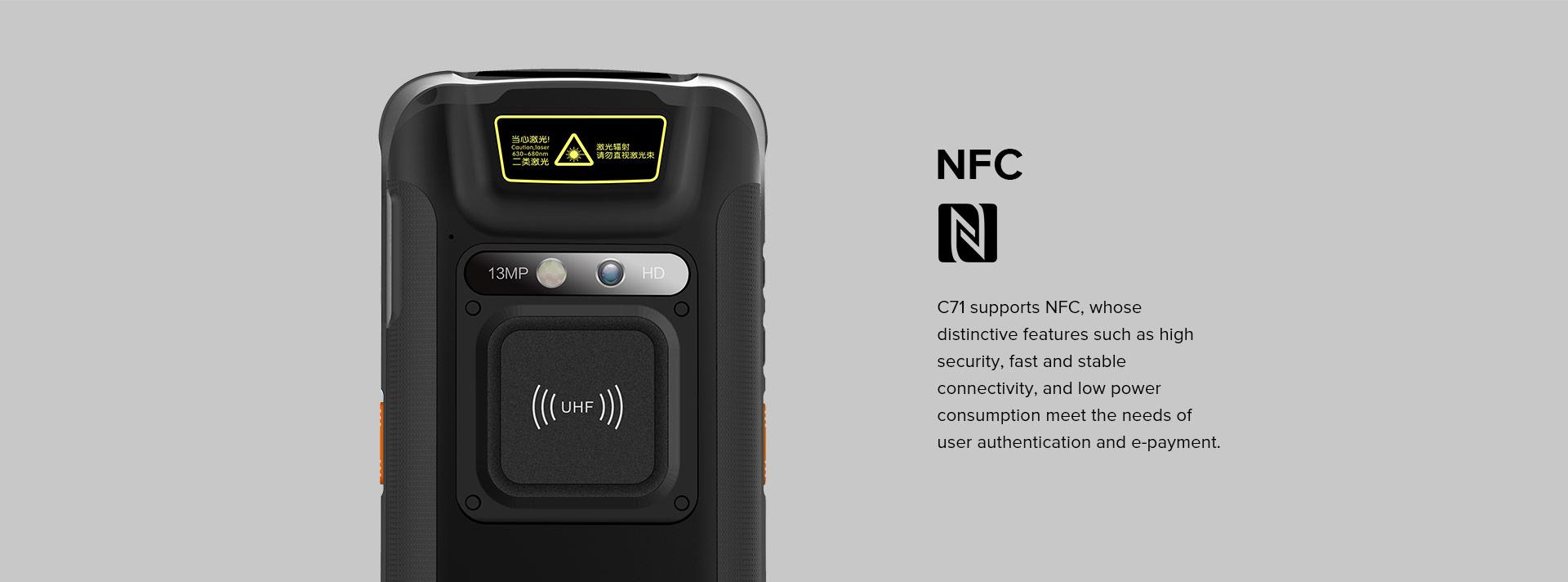 C71 - Android Industrial Mobile Computer RFID UHF - NFC/RFID