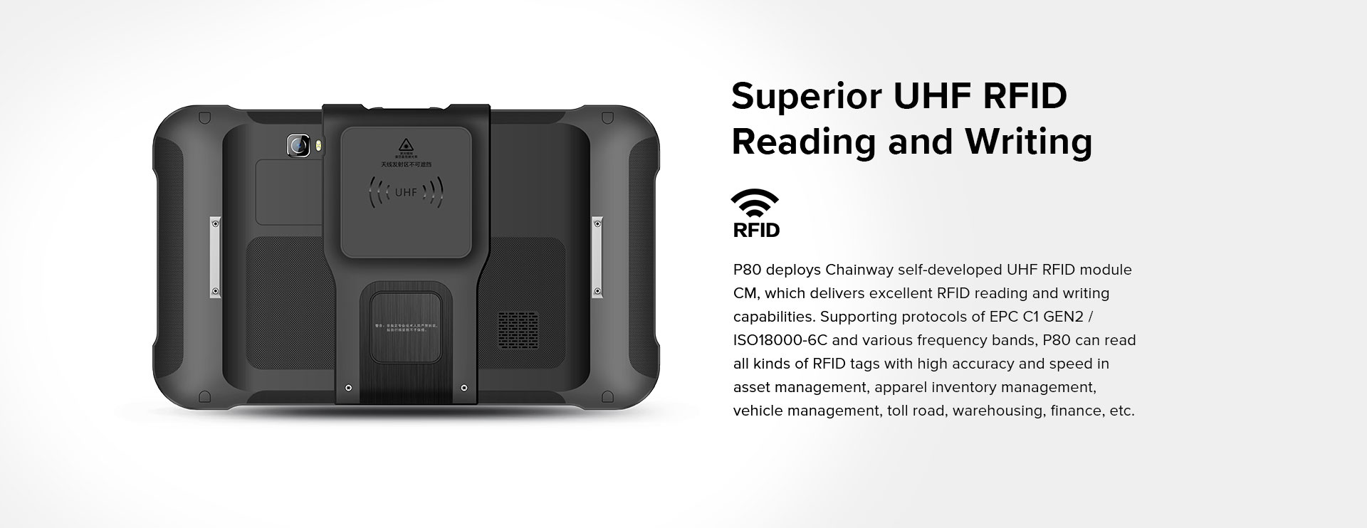 P80 - Android Rugged Tablet by RFID-Global - RFID UHF
