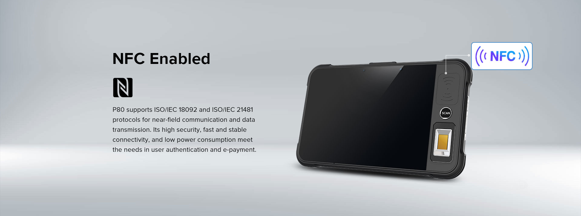 P80 - Android Rugged Tablet by RFID-Global - NFC