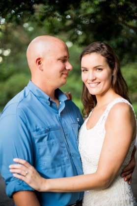 Engagement photos for an attractive couple