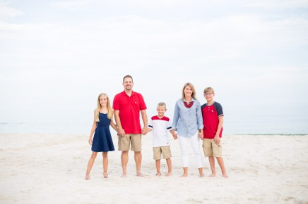 A family portrait on the beach at Gulf Shores, Alabama.