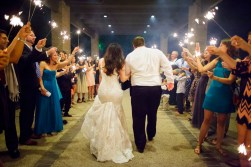 Bride and groom head off into their life together