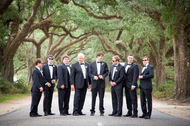A dapper group of gentlemen at the Avenue of the Oaks
