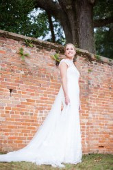 This bride cuts a striking figure