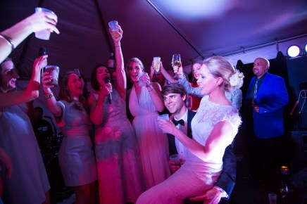Sorority sisters toast the new couple