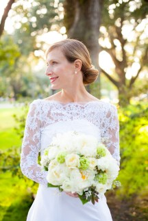 A bridal portrait on a late fall afternoon