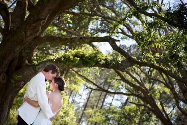 First look for bride and groom at Blackwater Farms