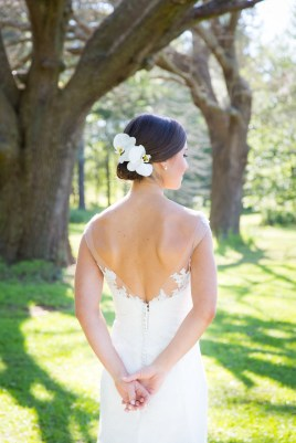 Bridal portrait at Blackwater Farms