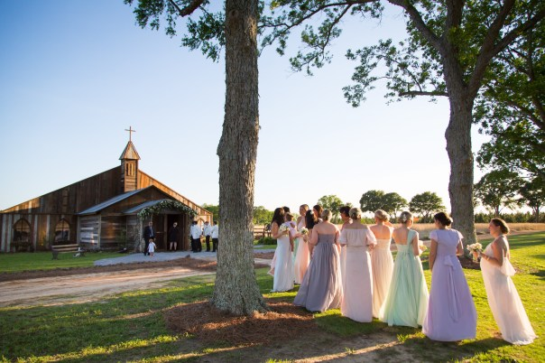 Outside the Blackwater Farms Chapel at Blackwater Farms in Loxley, Alabama