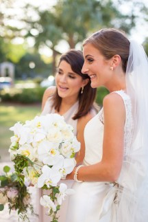 A bride and her bridesmaid, the big moment is here
