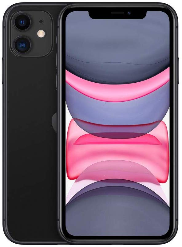 Black, Apple iPhone 11, Front,