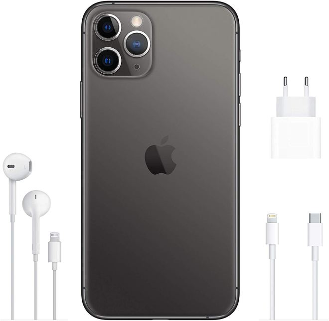 Black, Apple iPhone 11 Pro, Back,