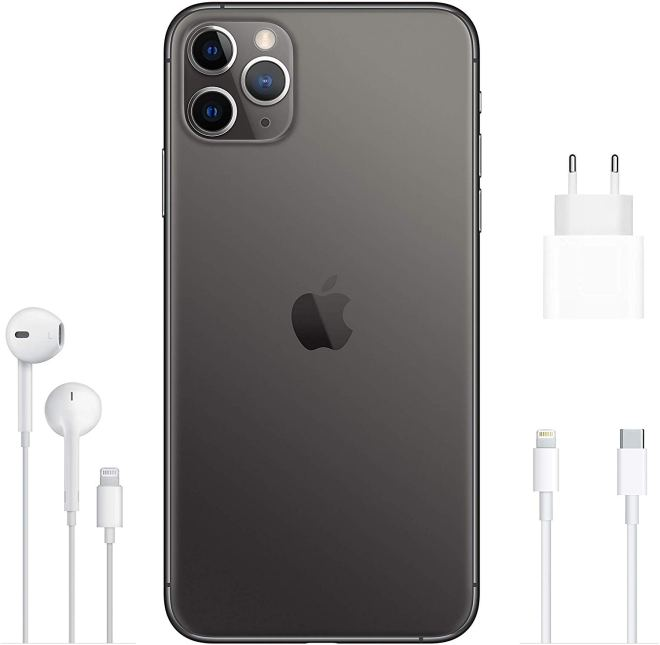 Black, Apple iPhone 11 Pro Max, Back,