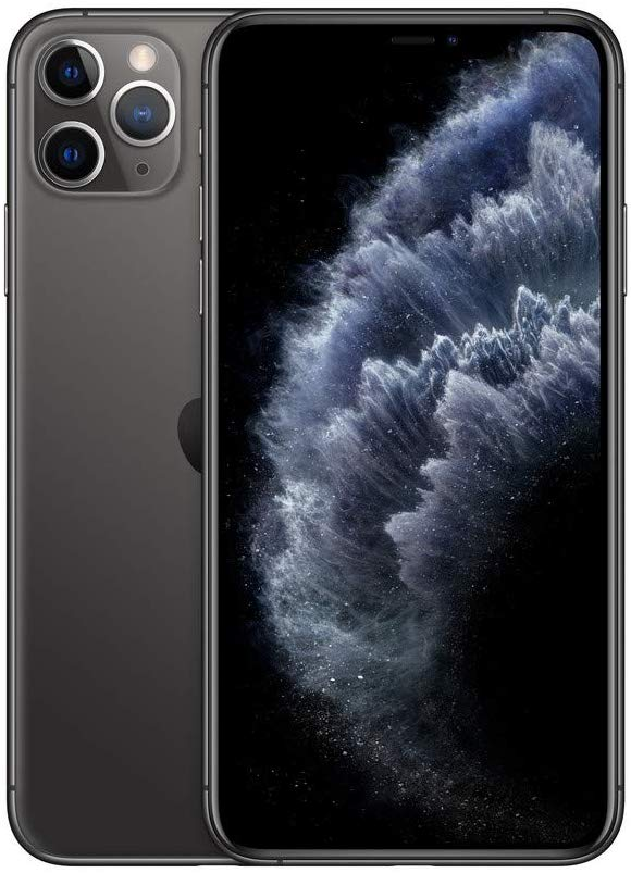 Black, Apple iPhone 11 Pro Max, Front