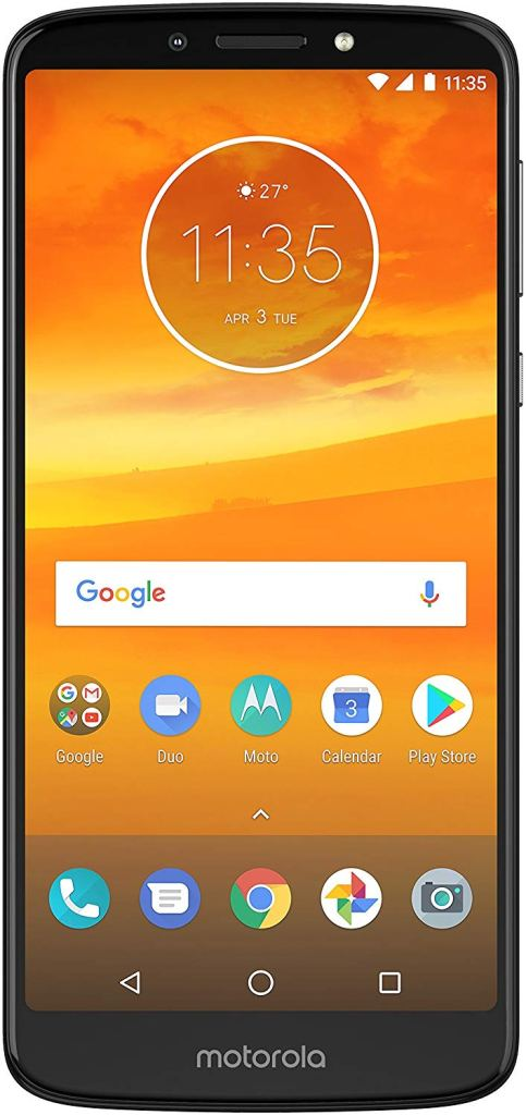 Virgin Mobile Phones, Moto E5 Plus, Black, Front