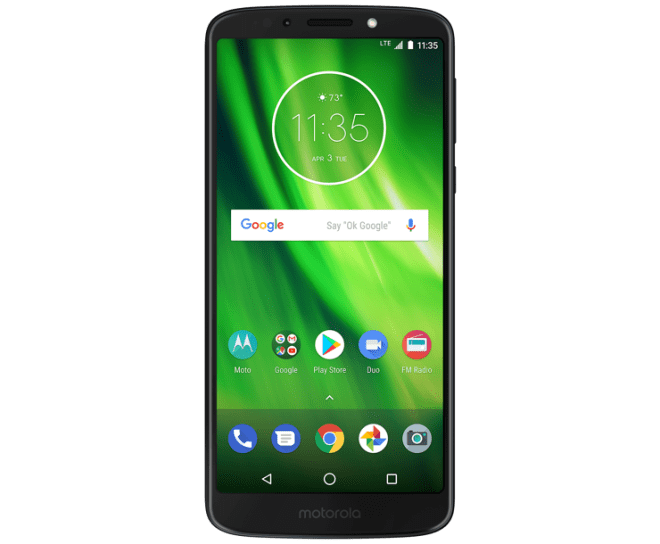 Moto G6 Play, Black, Front