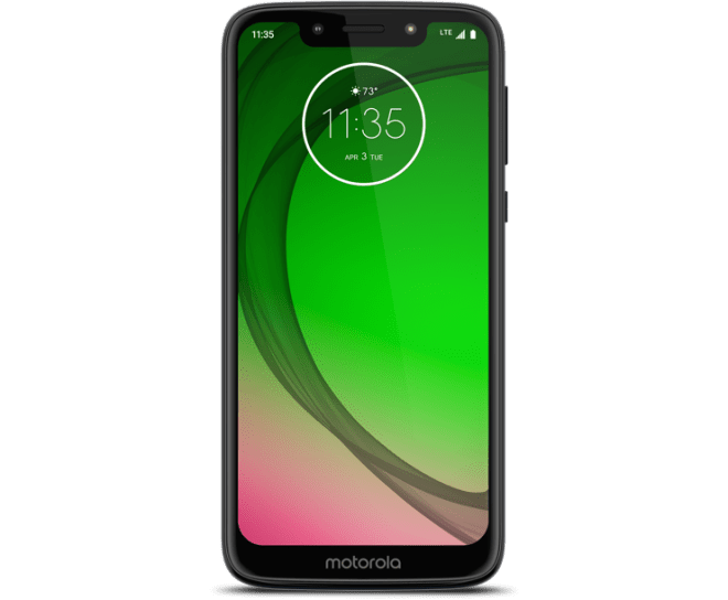 Virgin Mobile Phones, Moto G7 Play, Black, Front