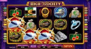HIGH SOCIETY SLOTS AT SPIN AND WIN