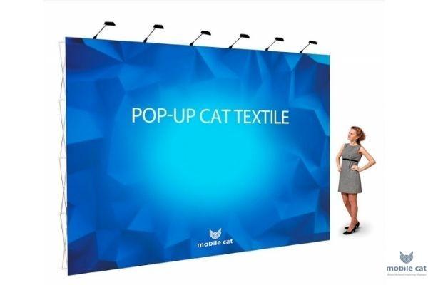 POP-UP CAT TEXTILE Стенд