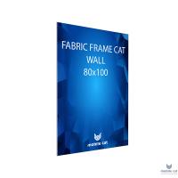 Fabric Frame Cat Wall, 80×100 см