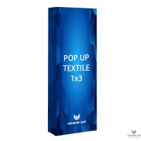 Pop-up Cat Textile стенд 1×3 секции прямой