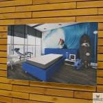 Fabric Frame Cat Wall, 145×100 см