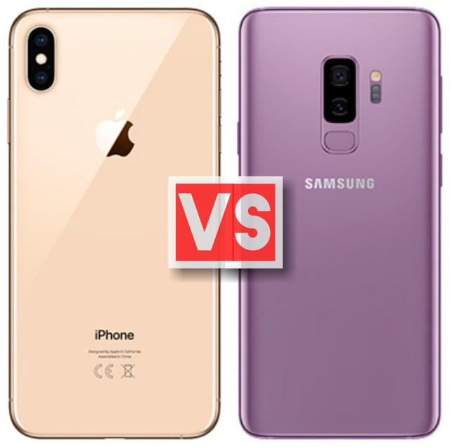 Apple iPhone XS Max Vs Samsung Galaxy S9 Plus