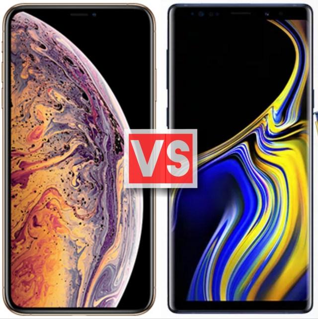 Apple iPhone XS Max Vs Samsung Galaxy Note 9