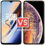 OnePlus 6T Vs Apple iPhone XS