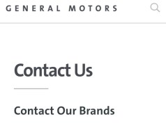General Motors Customer Service Number