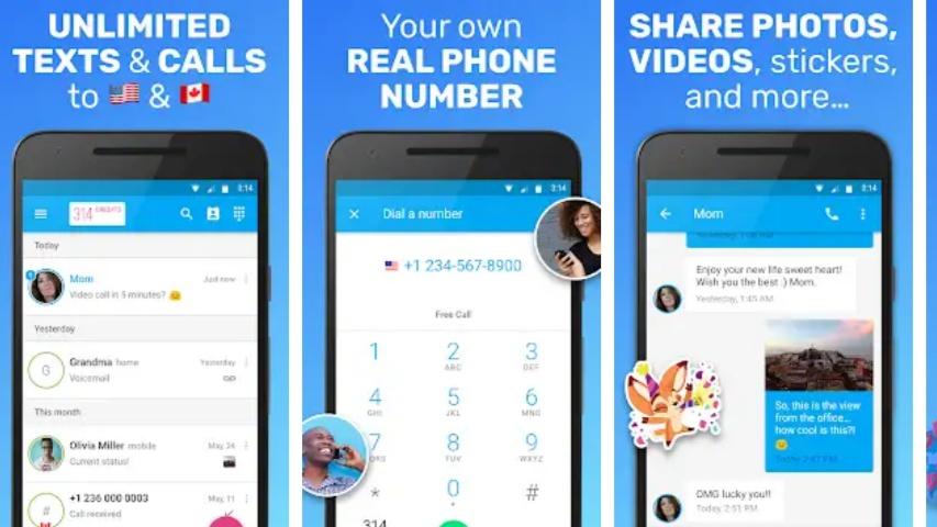 Text Me MOD APK Hack Unlimited Credit & Calls [Premium]
