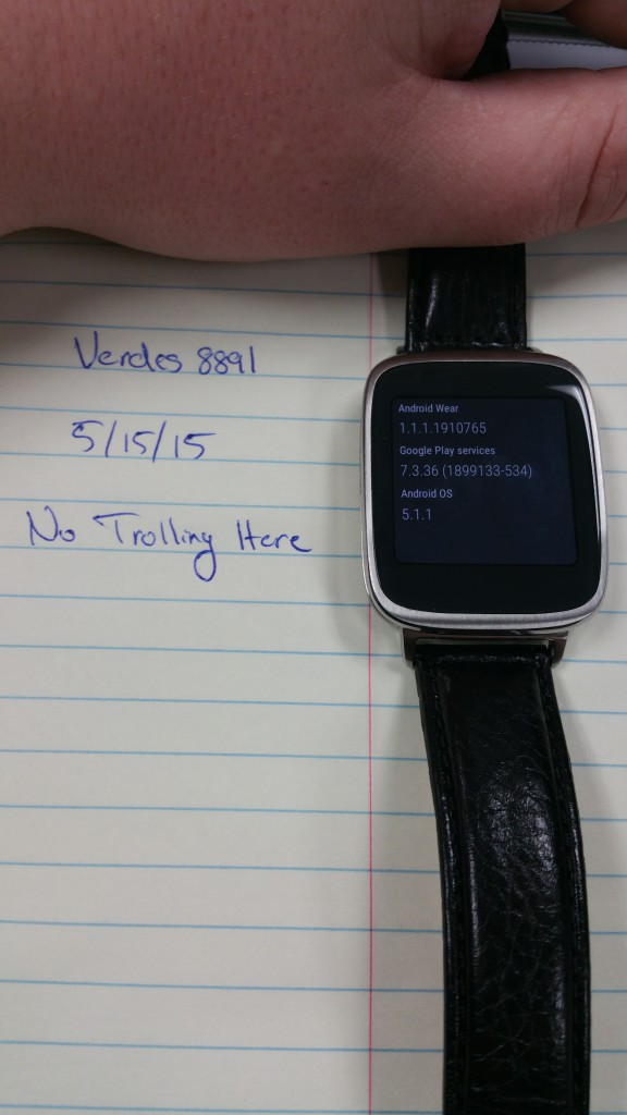 android wear 511 asus zenwatch