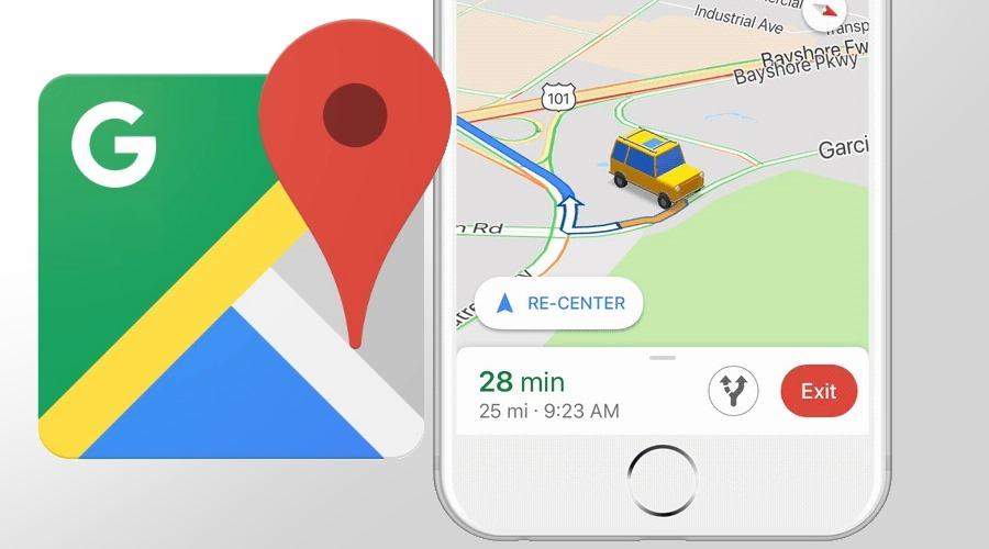 Google Maps bringt animierte Autos anstelle des blauen Pfeils bei Navigation