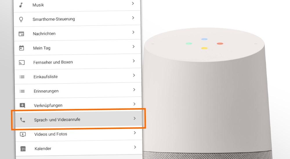 Anrufen mit Google Home - Eintrag in der App aufgetaucht, Deutschlandstart wohl bald?