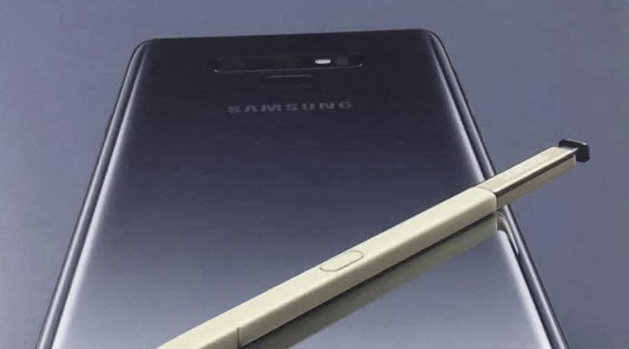 Samsung Galaxy Note 9: Bild zeigt wenig neues Design, Preis bei knapp 1000€?