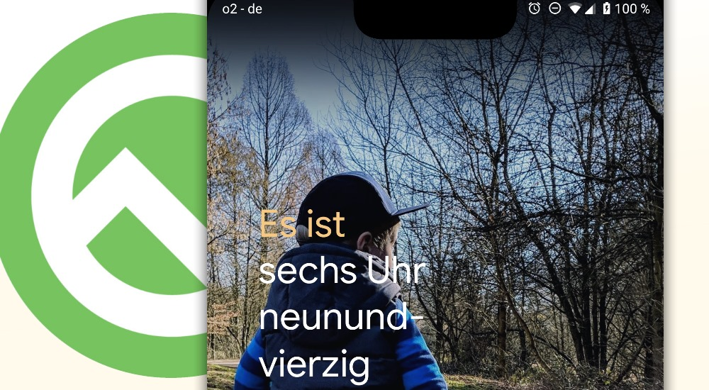 Android Q bietet alternative Uhrzeit-Anzeigen für den Lockscreen