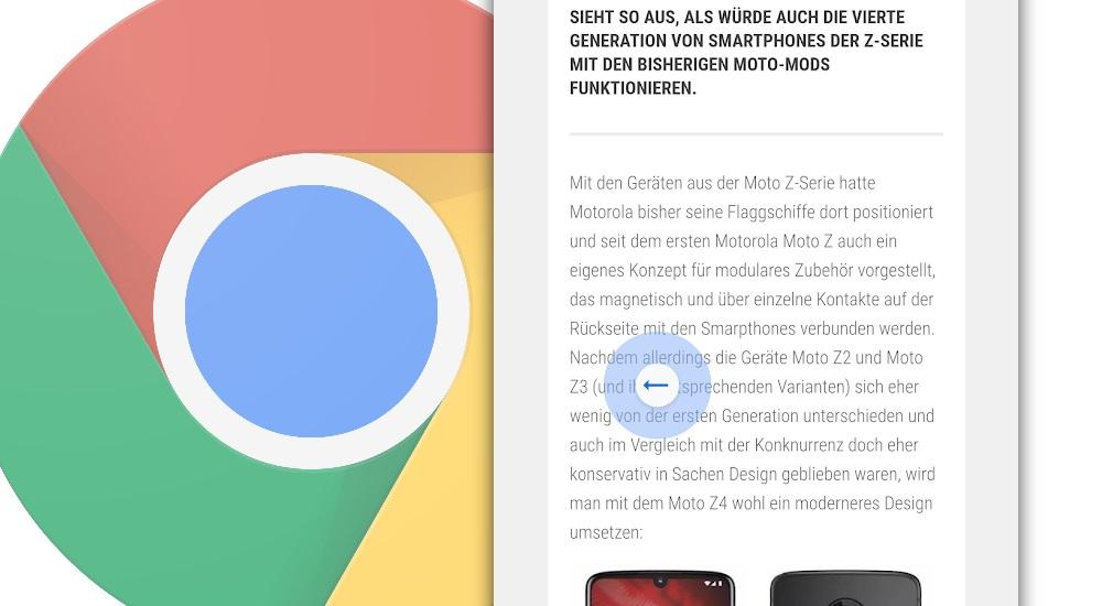 Google Chrome bekommt Swipe-Navigation - so aktiviert ihr das Feature