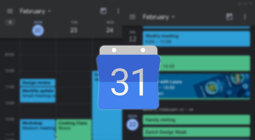Google kündigt Dark Mode für Kalender und Notizen offiziell an - verfügbar ab sofort