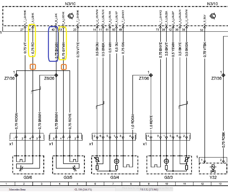 Эмулятор катализатора на Mercedes GL550 - схема подключения