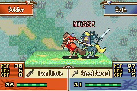 Fire Emblem. Stats, Skill and Luck go into the result of each battle.