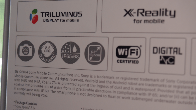 Sony Z3v box