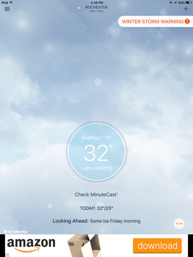 AccuWeather on iPad