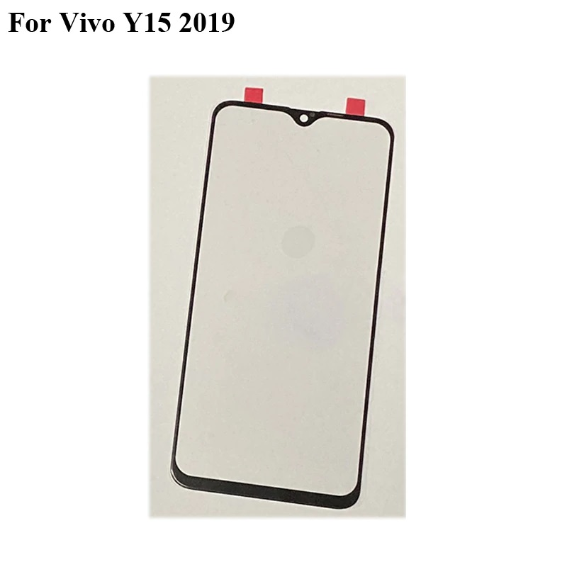 For Vivo Y15 2019 Front LCD Glass Lens Y 15 2019 Touch screen Panel Outer Screen Glass without Vivo Y15 2019