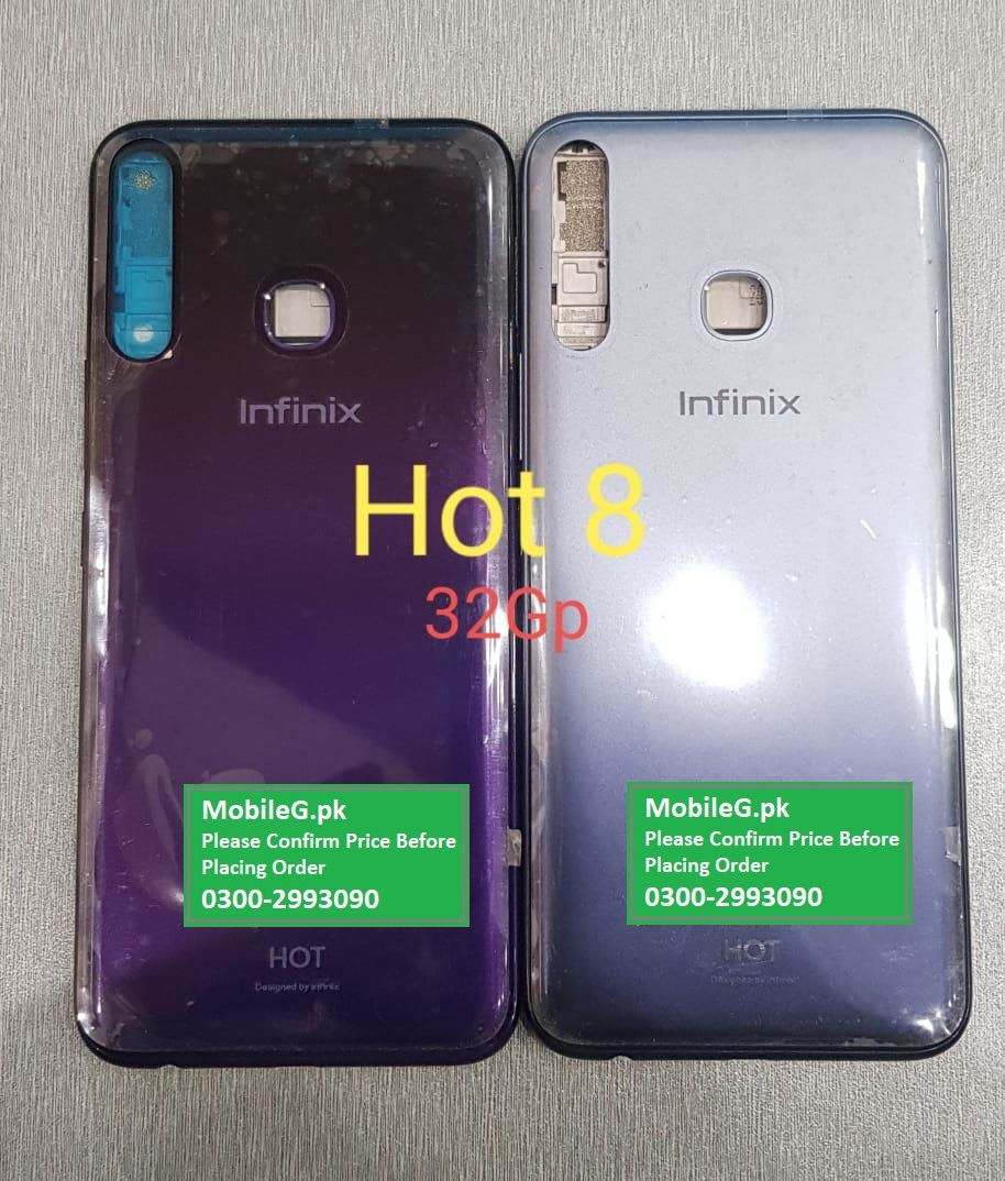 X650 Infinix Hot 8 Complete Housing Back & Middle Frame Buy In Pakistan