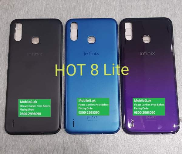 Infinix Hot 8 Lite Complete Housing-Casing With Middle Frame Buy In Pakistan