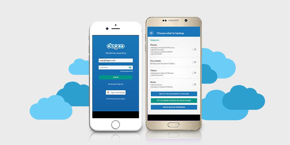 تطبيق Degoo