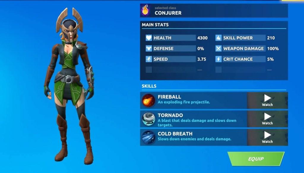 Conjurer Class Fog Battle Royale