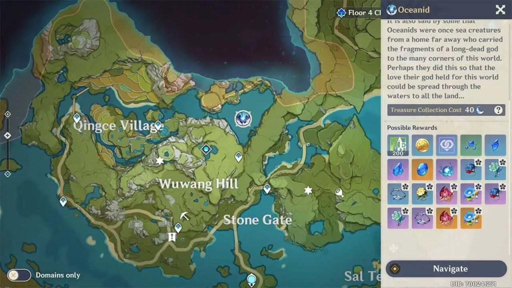 Oceanid's Location