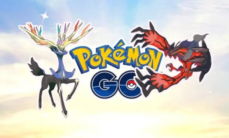 Xerneas and Yveltal along side the Pokémon GO logo.